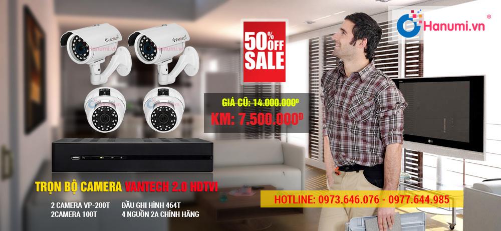 Trọn bộ camera quan sát Vantech 2.0 HD-TVI chính hãng. Bảo hành 5 năm.