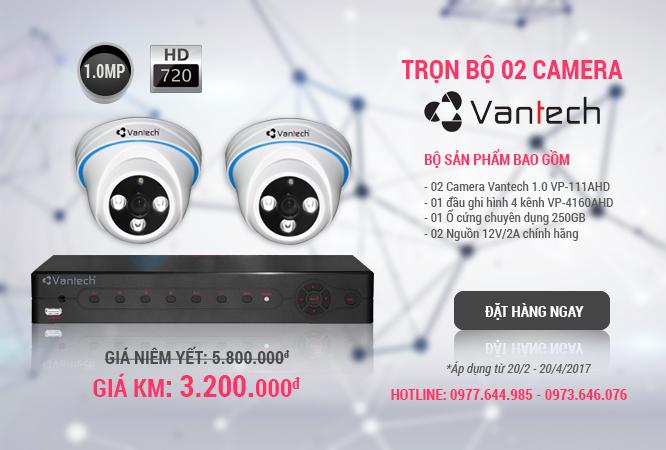 Khuyến mãi trọn bộ 2 camera vantech 1.0 HD giá chỉ 3tr2