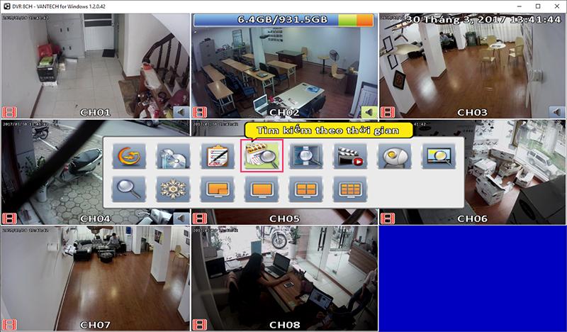 Hướng dẫn sử dụng phần mềm xem camera vantech trên máy tính