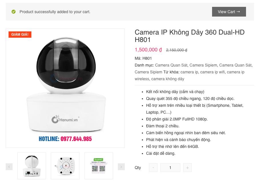 Hướng dẫn mua hàng online - view cart