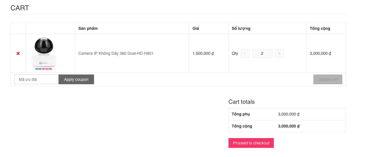 Hướng dẫn mua hàng online - Thanh toán